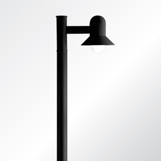 Atlantic small and medium shade post top luminaire