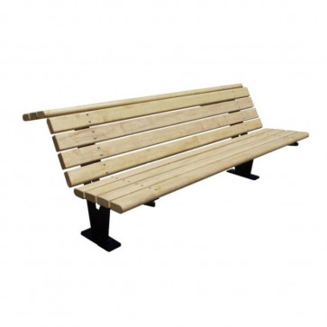 Florent Bench with Backrest