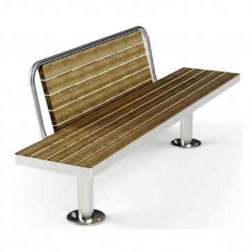 Moderna Bench With Backrest