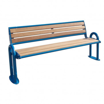 Piero Wood Bench with Backrest