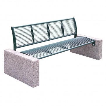 Tauri Classic Bench with Backrest