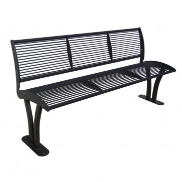 Tauri Bench with Backrest