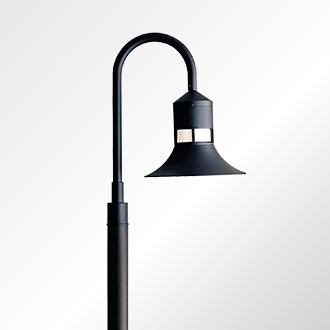 Columbus sheppards crook medium shade post top luminaire