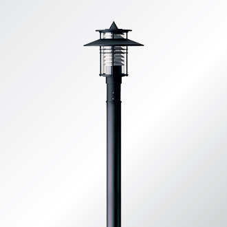 Eurasia 1 small shade post top luminaire
