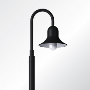 Atlantic sheppards crook medium shade post top luminaire