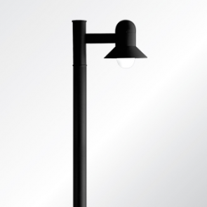 Atlantic small and medium shade post top luminaire