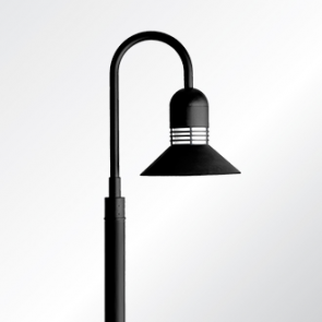 Duomo sheppards crook medium shade post top luminaire