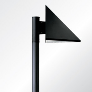 Triangle LED area lighting luminaire