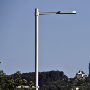 Cylindrical Pole with Outreach