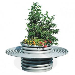 Azalea with Circular Bench Flower Box