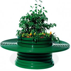 Versilia with Circular Bench Flower Box