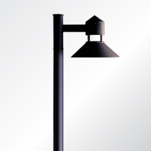 Columbus small and medium shade post top luminaire