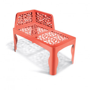 Coral Chaise Longue Bench