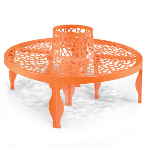 Coral Round Bench