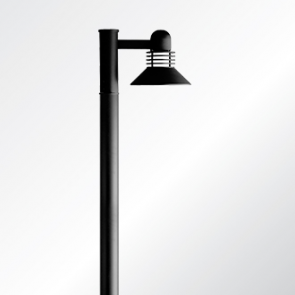 Duomo small and medium shade post top luminaire