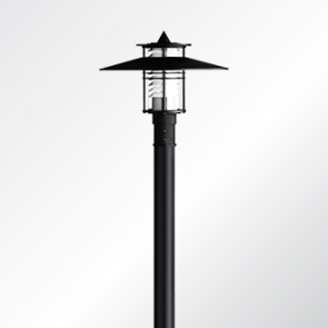 Eurasia 1 medium shade post top luminaire