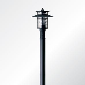 Eurasia 1 small shade post top luminaire
